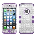 MYBAT Silver/ Purple Diamante Case for Apple iPhone 5