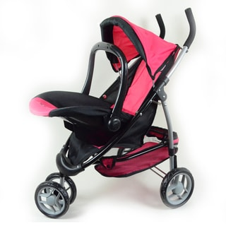 The New York Doll Collection 2-1 Doll Stroller with Car Seat