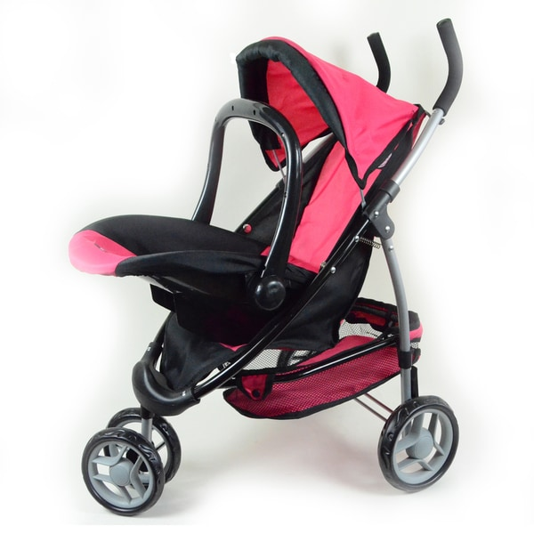 The New York Doll Collection 2-in-1 Doll Stroller with Car Seat