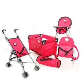 The New York Doll Collection 4-piece Doll Playset with Stroller