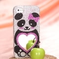 MYBAT Panda Heart Mirror Diamante Case for Apple iPhone 5