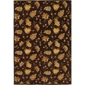 Safavieh Hand-knotted Agra Brown Wool Rug (8' x 10')