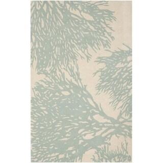 Safavieh Handmade Bella Beige/ Blue Wool Rug (6' x 9')