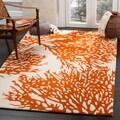 Safavieh Handmade Bella Beige/ Terracotta Wool Rug (6' x 9')