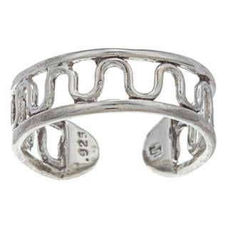 Sterling Silver Winding Road Flexible Toe Ring