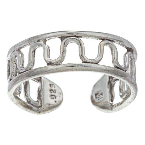 Sterling Silver Winding Road Flexible Toe Ring