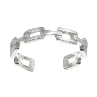 Sterling Silver Chain Link Adjustable Toe Ring