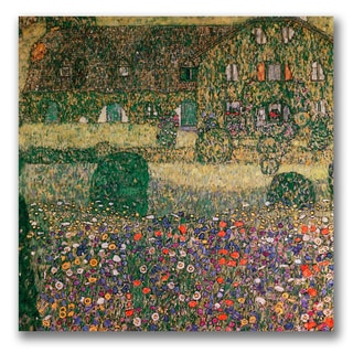 Gustav Klimt 'Country House' Canvas Art