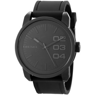 Diesel Men's DZ1446 'Not So Basic' Black Silicone Watch