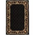 Safavieh Hand-hooked Chelsea Black Wool Rug (6' x 9')
