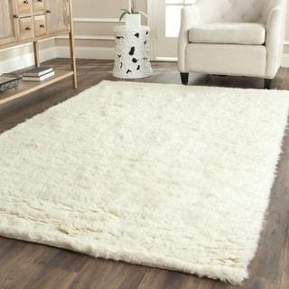 Safavieh Handmade Flokati Ivory Wool Rug (6' x 6' Square)