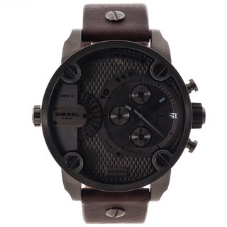 Diesel Men's DZ7258 Brown Leather Strap Grey Dial Chronograph Watch