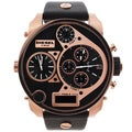 Diesel Men's Rose-goldtone/ Black Chronograph Watch