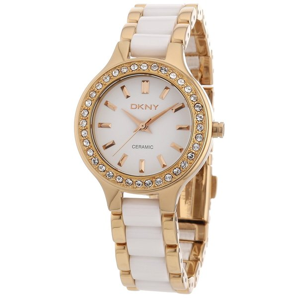 DKNY Women's NY8141 'Chambers' Stainless Steel and Ceramic Watch