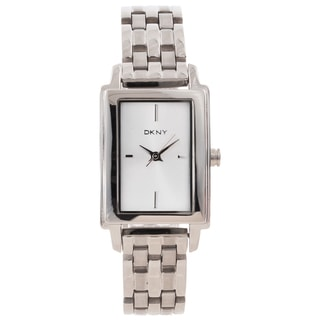 DKNY Women's Silvertone Rectangle Dial Watch