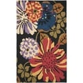 Safavieh Contemporary Handmade Jardin Black/Multi Wool Rug (4' x 6')