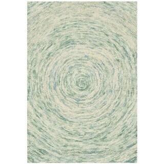 Safavieh Handmade Ikat Ivory/ Blue Wool Rug (3' x 5')