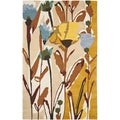 Safavieh Handmade Jardin Ivory/Multicolored Flower-Motif Wool Rug (4' x 6')