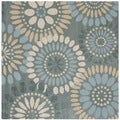 Safavieh Handmade Jardin Grey/ Blue Wool Rug (6' x 6' Square)