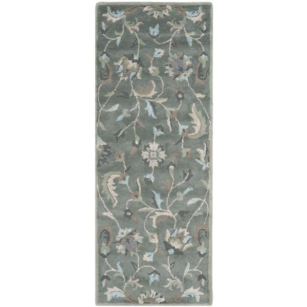 Safavieh Handmade Jardin Grey/ Multi Wool Rug (2'3 x 6')