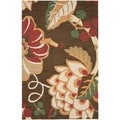 Safavieh Handmade Jardin Brown/ Multi Wool Rug (4' x 6')