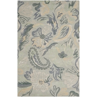 Safavieh Handmade Jardin Light Grey/ Multi Wool Rug (8' x 10')