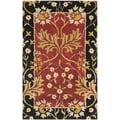 Safavieh Handmade Jardin Red/ Black Wool Rug (2'6 x 4')