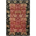 Safavieh Handmade Jardin Red/ Black Wool Rug (6' x 9')