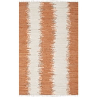 Safavieh Hand-woven Montauk Orange Cotton Rug (2'6 x 4')