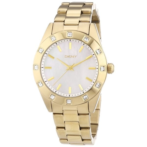 DKNY Women's Goldtone Stainless Steel Glitz Watch