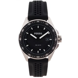 Fossil Men's 'Decker' Black Silicone Strap Watch