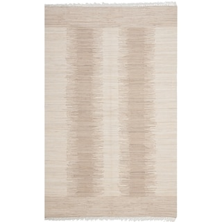 Safavieh Hand-woven Montauk Brown/ Beige Cotton Rug (8' x 10')