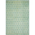 Safavieh Hand-knotted Mosaic Aqua/ Light Gold Wool/ Viscose Rug (8' x 10')