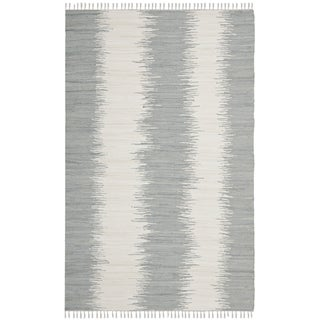 Safavieh Hand-woven Montauk Grey Cotton Rug (4' x 6')