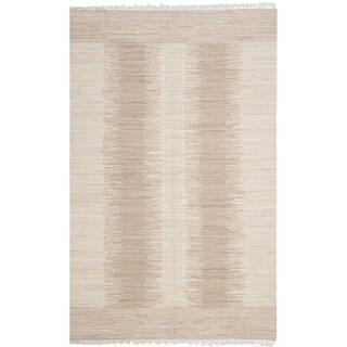 Safavieh Hand-woven Montauk Brown/ Beige Cotton Rug (3' x 5')