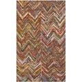 Safavieh Handmade Nantucket Multi Cotton Rug (2'3 x 4')