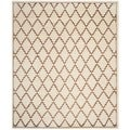 Safavieh Hand-knotted Mosaic Ivory/ Brown Wool/ Viscose Rug (8' x 10')