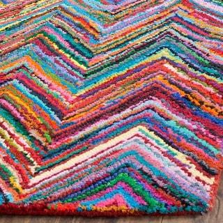 Safavieh Handmade Nantucket Pink/ Multi Cotton Rug (3' x 5')