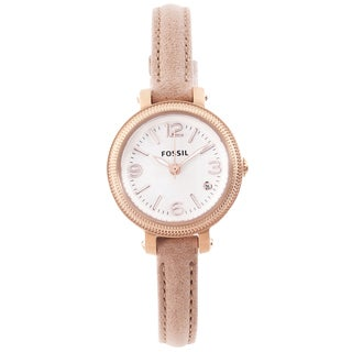 Fossil Women's 'Heather' Mini Leather Strap Analog Watch