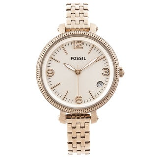 Fossil Women's 'Heather' Mid-size Stainless Steel Goldtone Watch