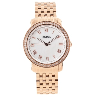 Fossil Women's 'Emma' Rose-goldtone Glitz Watch