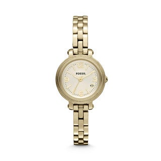 Fossil Women's 'Heather' Mini Stainless Steel Goldtone Watch