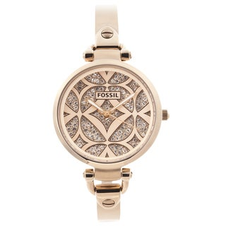 Fossil Women's 'Georgia' Goldtone Glitz Watch