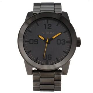 Nixon Men's 'Corporal' Grey Stainless Steel Analog Watch