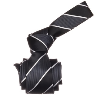 Republic Men's Black Stripe Microfiber Neck Tie