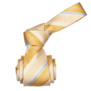 Republic Men&#39;s Yellow Striped Microfiber Neck Tie