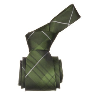Republic Men&#39;s Green Plaid Microfiber Neck Tie