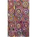 Safavieh Handmade Nantucket Pink/ Multi Cotton Rug (2'3 x 4')