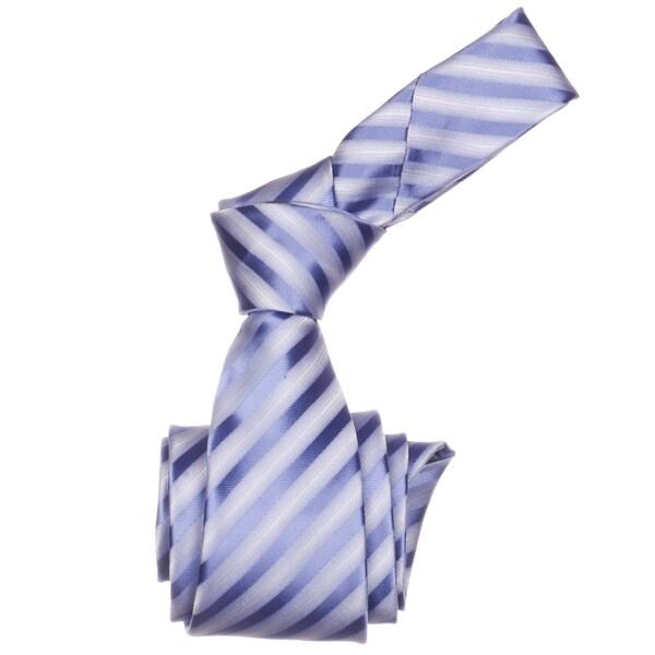 Republic Men's Purple Striped Woven Microfiber Neck Tie
