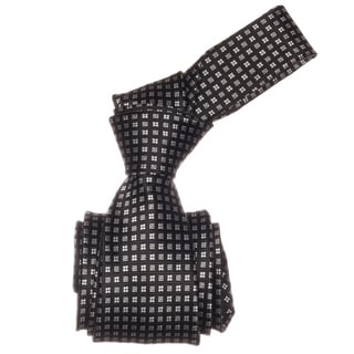 Republic Men's Black Squared Microfiber Neck Tie